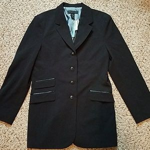 Black blazer.  Extra buttons included.